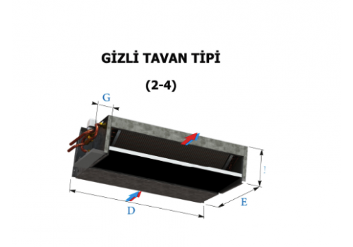 Gizli Tavan Tipi (2-4 Borulu)